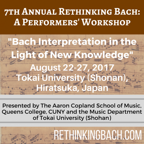 Rethinking Bach_ A Performers' Workshop