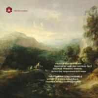 Francesco Geminiani Sonatas  for cello and continuo Op. 5,  George Frideric Handel Suite V for harpsichord in E major