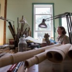 PENOBSCOT, MAINE -- 08/11/16 -- Leslie Ross works on Aug. 11 in her bassoon fabrication studio at her home near the shore of Northern Bay in Penobscot. Micky Bedell | BDN