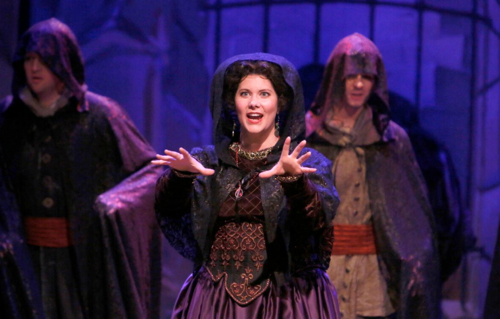 """Angela Young Smucker as the Sorceress in Haymarket's 2013 production of Purcell's' """"Dido and Aeneas."""""""
