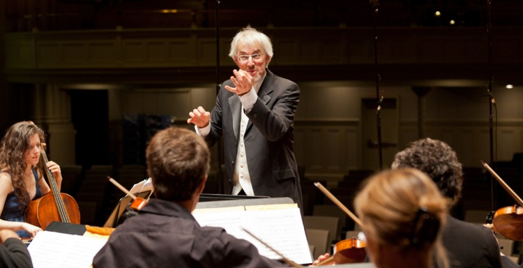 Matthias Maute, shown conducting Ensemble Caprice, makes his debut this week as artistic director of the Bach Society of Minnesota. (Photo by Bill Blackstone)