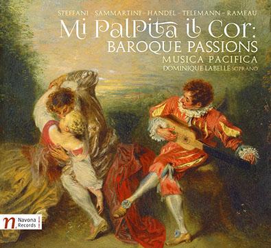 Cover image from Musica Pacifica's 2016 release, Mi Palpita Il Cor: Baroque Passions.