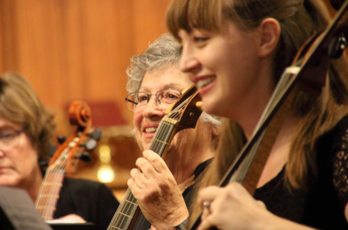 Lucy Jones, Joan Lounsbery, and Alexa Haynes-Pilon performed in the inaugural concert.