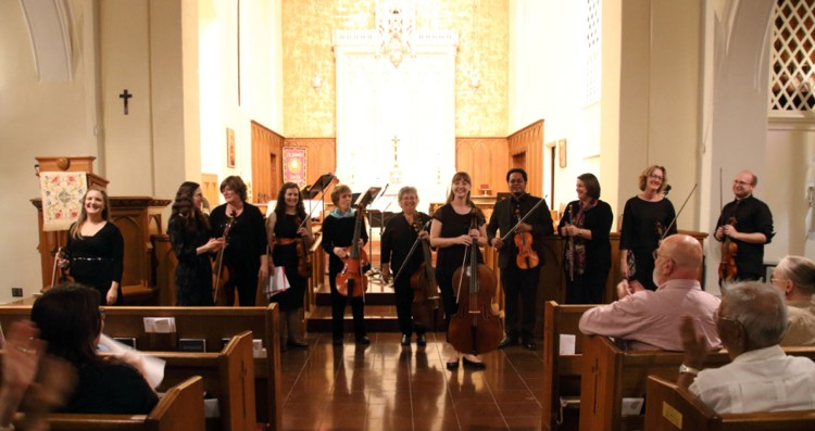 Los Angeles Baroque gave its inaugural concert Nov. 13 at St. James Episcopal Church in South Pasadena. (Photos by Helen Berger)