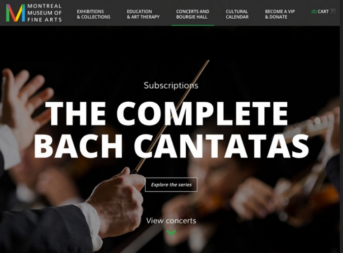 The Montreal Museum of Fine Arts' website provides details of the Bach cantata project.