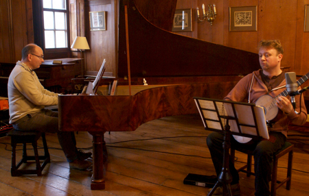 Gary Branch and James Akers recording the CD.