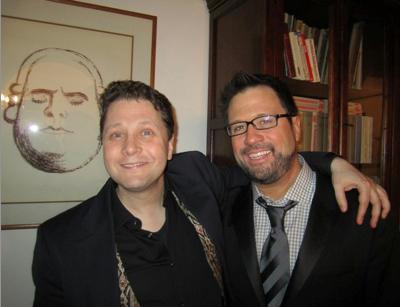 Vinikour with countertenor David Daniels and friend.