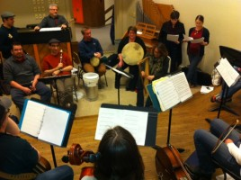 TTU Early Music Ensemble in rehearsal