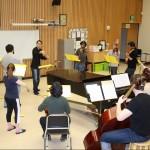 WMU Collegium Musicum rehearsing Brandenburg 4
