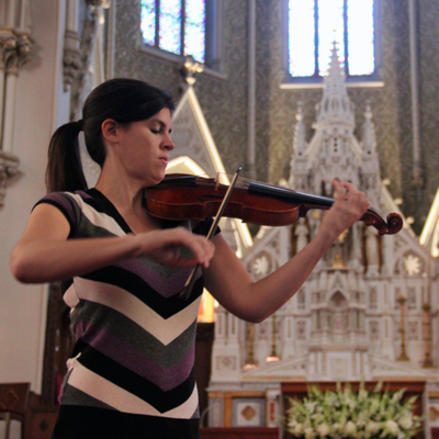 Baroque violinist and artistic director Brandi Berry