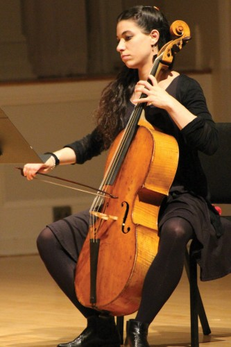 Cellist Dara Bloom Photo courtesy of the Berwick Academy
