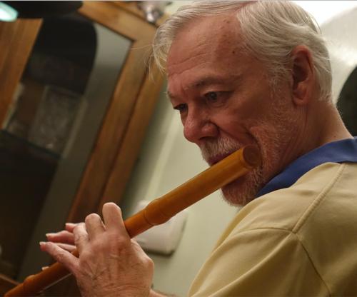 Transverse flute player Edward Ferrell