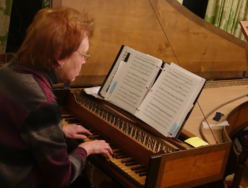 Carolina Pro Musica founder and harpsichordist Karen Hite Jacob.