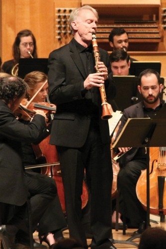 Clarinetist Eric Hoeprich performs during the 2016 Berwick Academy. Photo by Monica Sellers