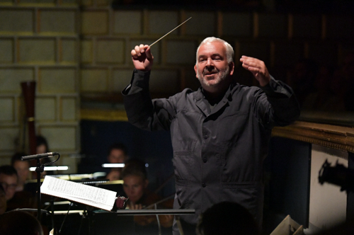 Minkowski leading Orchestre de l'Opéra National de Bordeaux Aquitaine in a rehearsal of Massenet's 'Don Quichotte' in Bordeaux in 2016. (Frederic Desmesure)