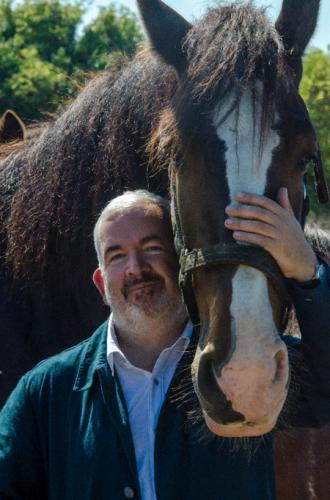 Minkowski with his horse, Warrior. (Jacques-François l'Oiseleur des Longchamps)