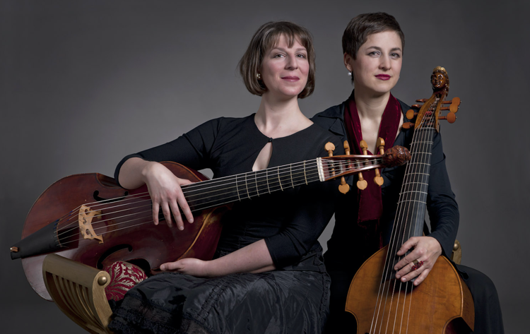 Jane Achtman and Irene Klein, founders of the Swiss viol consort Musicke & Mirth. (Photo by ansichtssachen)