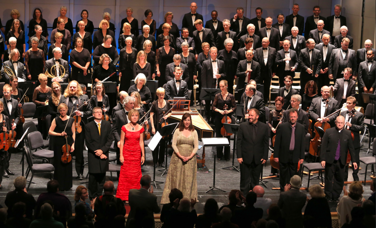 An opening-night performance at the Carmel Bach Festival. Photo by Randy Tunnell
