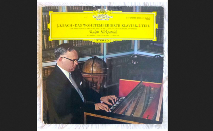 The cover of Ralph Kirkpatrick's DG recording of Bach's Well-Tempered Klavier, Part I.