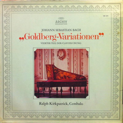 Kirkpatrick recorded Bach's Goldberg Variations on cembalo for Archiv Produktion.
