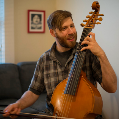 Eric Miller has been playing viola da gamba since 2006. (Emeral Cooper)
