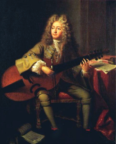 Marin Marais, painted by André Bouys in 1704.