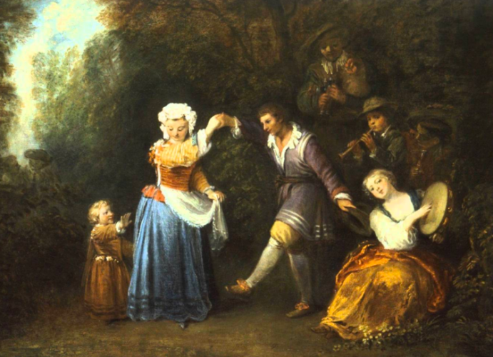 The Country Dance, by Jean-Antoine Watteau (1684-1721)