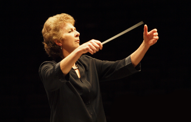 British conductor Jane Glover is beginning her 15th season as music director of Music of the Baroque. (Photo by Jim Steere)