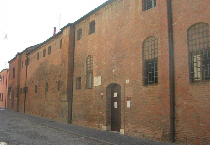 The Corpus Domini Monastery in Ferrara, where Eleanor d'Este was a nun, and where she is buried with her mother, Lucrezia Borgia, and other family members.