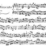 The opening of Giacobbe Cervetto's Divertimento in G, Op. 4, No. 1, published in 1761.