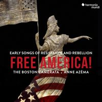 cd cover for Free America. A women holding an america flag.