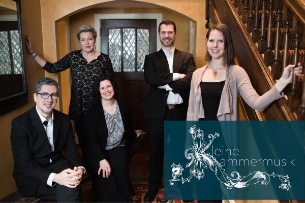 members of kleine kammermusik standing by stairs