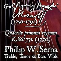 Wolfgang Amadeus Mozart (1756-1791) – Quaerite primum regnum Dei à4, K.86/73v (1770)